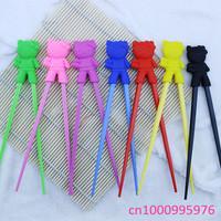 Wholesale 10 pcs children learning chopsticks High quality plastic toy Kt cat infant chopsticks Free shipping