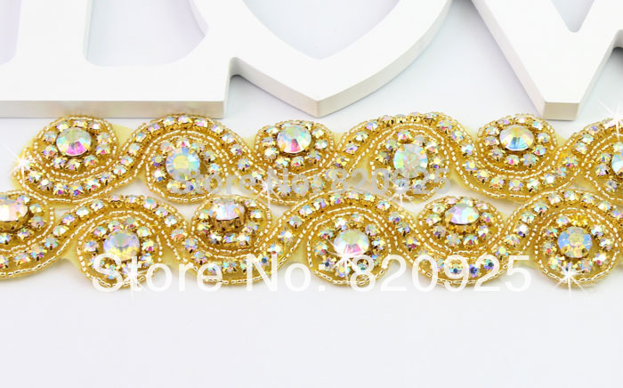 Gold trim applique