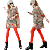 Spring 2014 women's pullover fashion fancy basic shirt top loose chiffon shirt c4539
