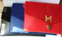 Bag day clutch h lock nubuck leather envelope bag