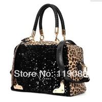 Women's bag 2014 women's handbag leopard print bag paillette bag sequin bag shoulder bag handbag messenger bag