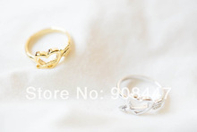 R72 New Design Ancient Copper Plated Cupid Arrow and Heart Shaped Alloy Metal Finger Ring For