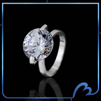 2015 Fashion new design Swiss cubic zirconia Wedding/bridal rings silver plated Jewelry anillos for Women