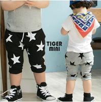 SKZ-281, new 2014 summer children's cotton pants fashion baby star shorts boy's casual 2 color trousers 5pcs/lot wholesale