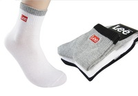 2014 NEW 3 color Brand sport socks men's classic embroidery socks 12pcs=6pair=1 lot free shipping