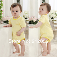 Baby clothes summer baby bodysuit summer thin short-sleeve  triangle  100% cotton