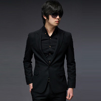 Slim men's clothing sword black suits casual blazer married formal dress work wear