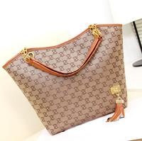 New 2014 Women Messenger Bags Canvas and PU e Letter Shoulder Bags Shopping Bags Women Handbags Wholesale B003