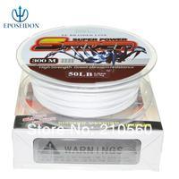 No.1 Quality&Service 4 Strand White Color 300M Japan Multifilament Super Strong 100% PE Braid Fishing Line 20LB