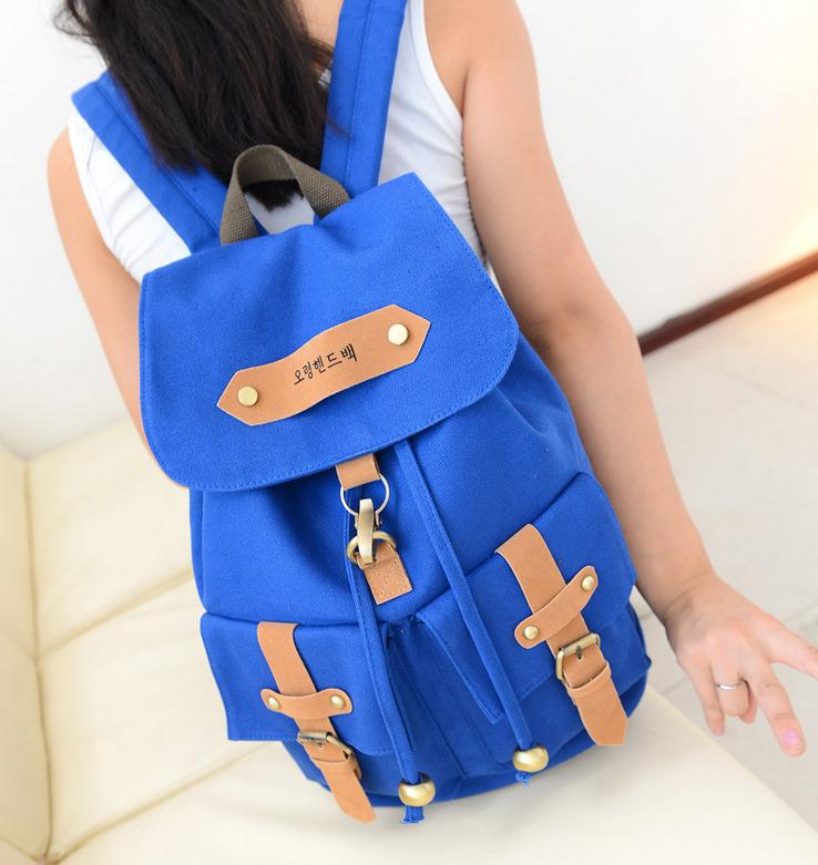 Hot Sale Korean Trendy Ladies Backpack Canvas Women's Travel Bag Backpacks Larger Capacity BB0805(China (Mainland))