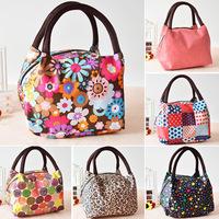 20 Color New canvas bag women's lunch handbag portable small lunch box bag stripe oxford fabric women's handbags Free Shipping