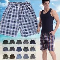 Wholesale 5pcs/lot Men's Summer Beach Shorts Loose Plus Size Plaid Casual Shorts For Man Beach Pants PT-101