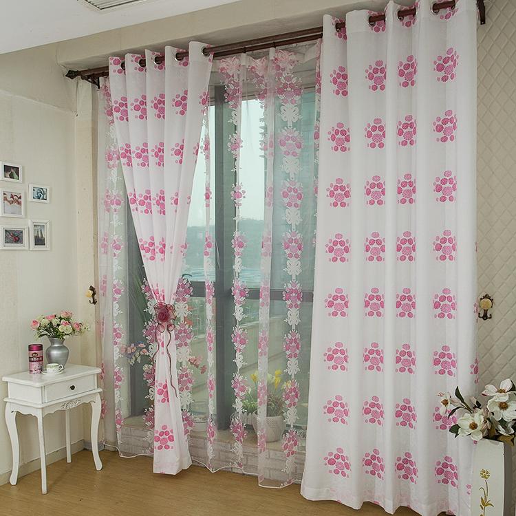 Moderne rideaux rideaux color s pour fen tres tissu d coration de la maison d - Maison coloree rideaux ...