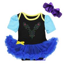 Baby Rhinestone Anna Princess Bodysuit Pettiskirt Tutu Party Dress Costume NB-18M(Hong Kong)