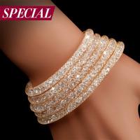 Special bracelet female fashion multi-layer handmade star zircon spring time