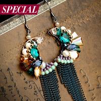 Special earrings female tassel bohemia anti-allergic earring spring