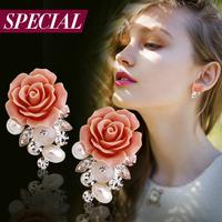 Special stud earring female flower anti-allergic earring spring