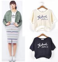 Dazzlin embroidery letter kichaels comfortable small top short-sleeve short design sweatshirt t-shirt tee