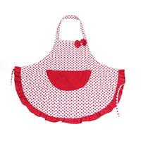 Cute Pocket Dots Pattern Restaurant Bib Apron Dress Cooking Apron Home Kitchen