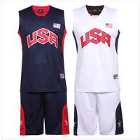 Free shipping 2013 USA national team basketball uniforms clothes usa basketball clothing basketball set printing