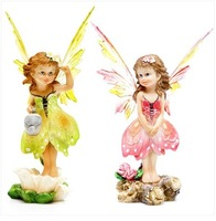 European Flower Fairy Angel Figurines For Home Decoration Resin Crafts Ornaments To Send His Girlfriend Birthday Gift