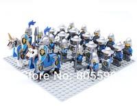 24pcs/lot Lion Army Minifigure Building Block Castle Knight Brick accessory compatible with lego mini figures