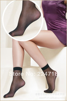 Min order $9.9(mix order) 10 colors in women Ultra-thin transparent  women socks  10pairs in a pack