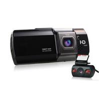 "2014 New Dual Camera HD Car DVR Camera 148 Degree 2.7"" LCD G-Sensor Vehicle Video Recorder Car Blackbox with External Lens AT580"