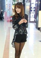 New 2014 spring Europe American pentagram HOT SALE printed shirt women loose Chiffon Blouses shirt unlined upper garment D1336