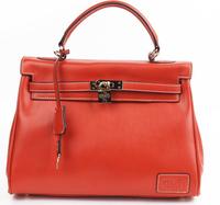 2014 Popular First Layer Cowhide Genuine Leather Handbags Women Leather Handbag Free Shipping