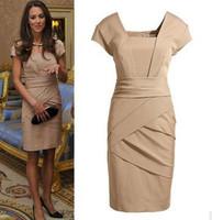 2014 OL outfit slim one-piece dress Elegant Princess Kate Middleton Dress Women's Knee-Length Wear Party Evening Dress