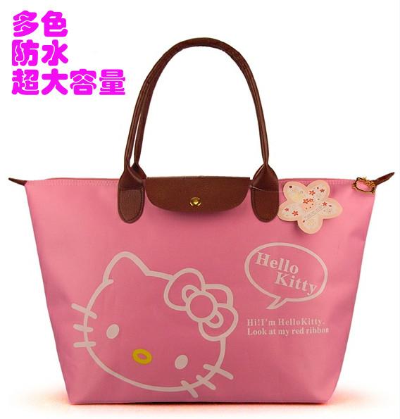 Canvas bag female one shoulder HELLO KITTY fitness travel bag mummy shopping bag big bag waterproof(China (Mainland))
