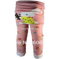 Baby Clothing Winter Elastic Cartoon Baby Toddler Cotton PP Pants Busha Warm Unisex Baby Tights Kids Designer Leggings