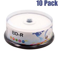 25GB 10pcs 6x Recordable bd-r blu ray blank discs(China (Mainland))