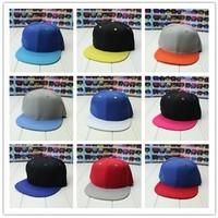 New Arrival Snapback Hat 17Colors Hip Hop Cap 100%Cotton Baseball Caps 1Pc Free Shipping