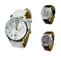 2014 NEW Arrival Gentleman Watch 3 Color Business Man Watch Big Dial Quartz Watch Free Shipping