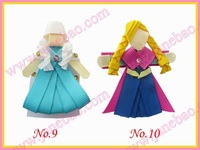 free shipping popular 50pcs frozen character hair bows(people)  sculpture hari clips boutique  hair bow girl bug bows