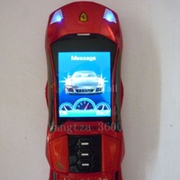 Red MINI F8 Sports car Unlocked cell phone Quad Band Dual SIM MP3 mobile phone