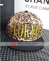Free Shipping Wholesale TOKYO leopard flat hat leisure cap brief baseball cap Hip-hop hats for men and women