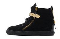 Hot summer shoes black nubuck  leather shoes black bottom shoes with golden metal steel unisex sneakers US 5.5-12