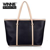 Fashion brief women's handbag big PU casual bags casual handbag shopping bag big