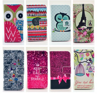 2014 New Stripes Keep Calm Animals Flip Wallet Magnetic Stand Leather Cases Cover For Apple iphone 4 4G 4S 5 5G 5S Handbags 2506