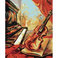 Digital oil painting 40 50 digital painting diy violin digital oil painting hand painting