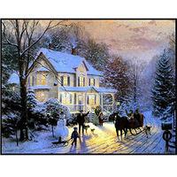 Digital oil painting 40 50 digital painting winter diy digital oil painting romantic hand painting