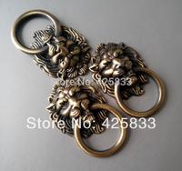 Free Shipping 10pcs  Antique Bronze Cartoon Lion Head Cabinet Handles Knobs Drawer Pulls Closet Drawer Door Hardware
