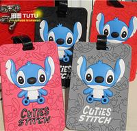 Stitch cartoon silica gel silica gel traffic card case black