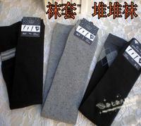 5 100% cotton ankle sock barreled over-the-knee kneepad wool line socks leggings set boot covers