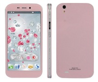 "2014 HTM S129 Women Phone 5.0"" IPS Screen 1280*720P MTK6582 Quad Core 1G RAM 4G ROM WCDMA 3G Android 4.2 Diamond Phone HTM S129"