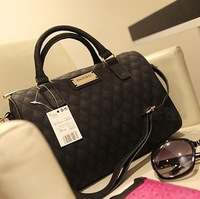 2014 New PU Women Leather Handbags,Mango Plaid Bucket Women Messenger Bags,Lady Totes Wholesale Drop Shipping Available