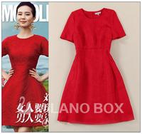 Women's Long Dresses New Fashion Autumn/Winter Arrivals Novelty Stylish Elegant Vintage Sleeve Printed Midi Runway Maxi 2014
